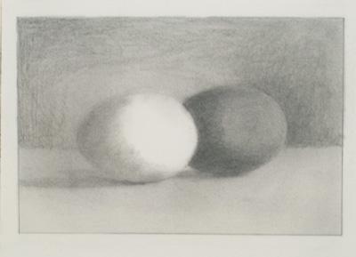 金子豊文|絵画実践プログラム|白と茶色の玉子を描く