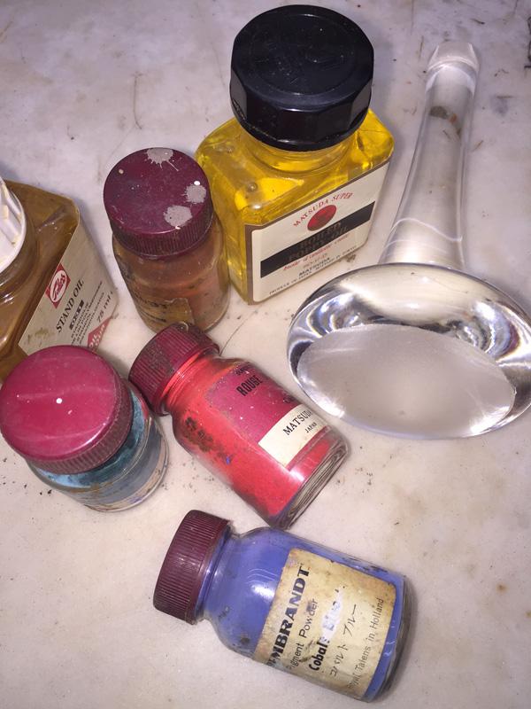 顔料、乾性油、練り具